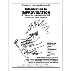 Henson Conant Deborah - Introduction to improvisation for pedal harp or lever harp (in C) (with CD)