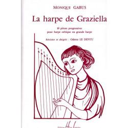 Gabus Monique - La harpe de Graziella (harpe celtique ou grande harpe)