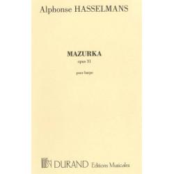 Hasselmans Alphonse - Mazurka op. 31 pour harpe