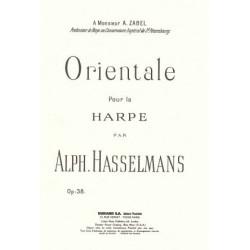 Hasselmans Alphonse - Orientale pour la harpe op.38
