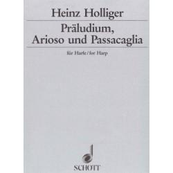 Holliger Heinz - Praeludium,arioso & passacaglia (für harfe - fo