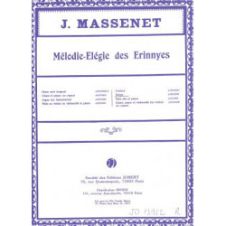 Massenet Jules - Mélodie-Elégie des Erinnyes (pour harpe)