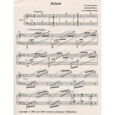 Alberstoetter Carl - Ballade (solo harp part - partie harpe seule)