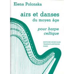 Polonska Elena - Airs & danses du moyen-âge  pour la harpe celtique
