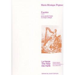 Popesco Marie-Monique - Facettes (8 pièces pour grande harpe ou