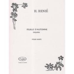Renié Henriette - Feuille d'automne, esquisse