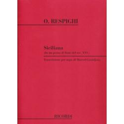 Respighi Ottorino - Siciliana (Sicilienne-Marcel Grandjany)