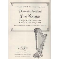 Scarlatti Domenico - 2 sonates, la M & fa m