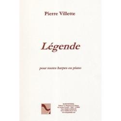 Villette Pierre - Légende (harpe classique ou celtique)