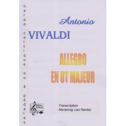 Vivaldi Antonio - Allegro en ut M (harpe celtique)