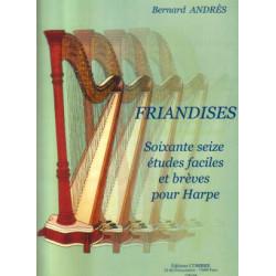 Andrès Bernard - Friandises : 76 études faciles et brèves pour harpe