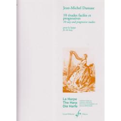 Damase Jean-Michel - 10 études faciles et progressives pour harp