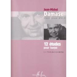 Damase Jean-Michel - 12 études pour harpe