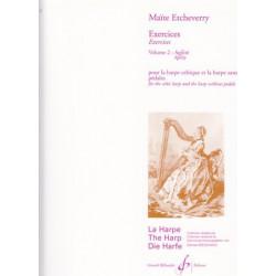Etcheverry Maïté - Exercices vol.2 Agilité (harpe celtique)