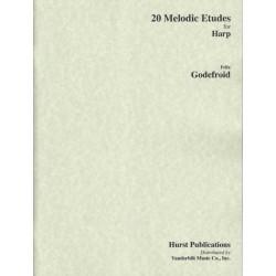 Godefroid Felix - 20 études mélodiques for the harp
