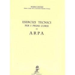 Grossi Maria - Exercices techniques pour harpe (esercizi tecnici per i primi corsi)