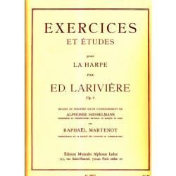 Larivière Edmond - Exercices & études Op.9 pour la harpe