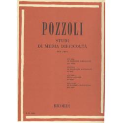 Pozzoli Ettore - Studi di media difficoltta per arpa