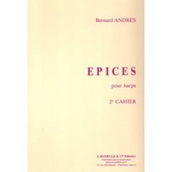 Andrès Bernard - Epices (2ème) pour harpe