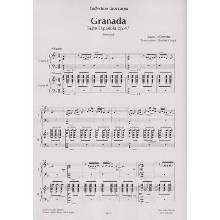 Albeniz Isaac - Granada (2 harpes)