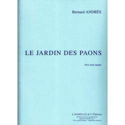 Andres Bernard - Le jardin des paons (2 harpes)