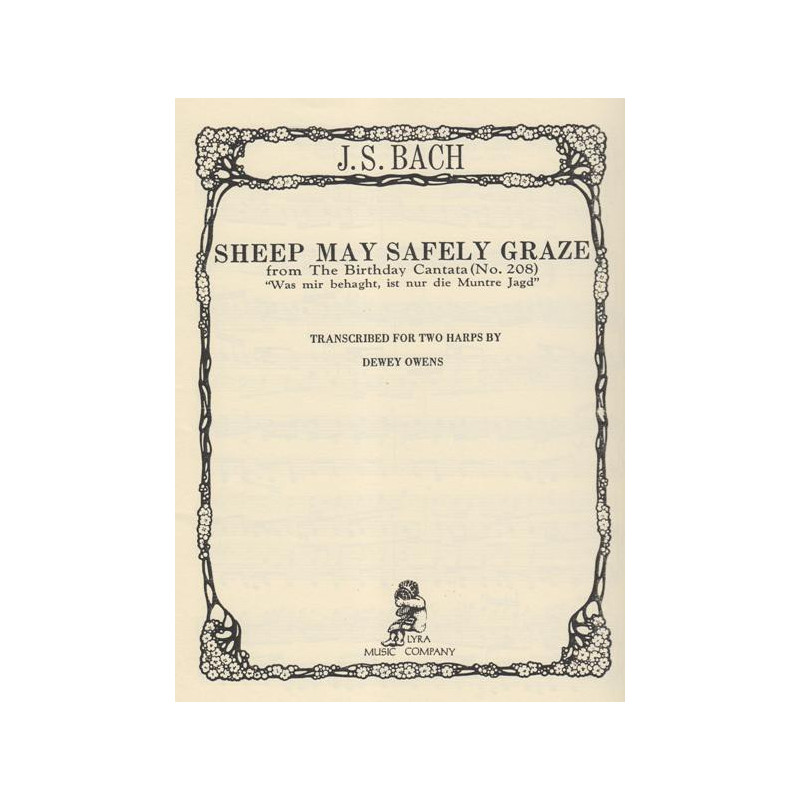 Bach Johann Sebastian - Sheep may safely graze (2 harpes)