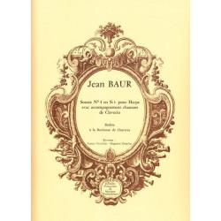 Baur Jean - Sonate n°4 en si b (harpe & clavecin)