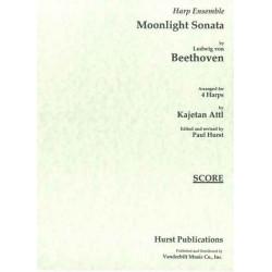 Beethoven Ludwig van - Moonligth sonata (4 harpes)