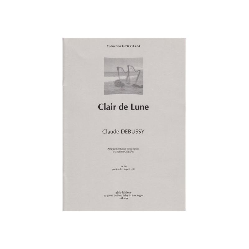 Debussy Claude - Clair de lune (2 harpes)