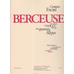 Fauré Gabriel - Berceuse (extrait de Dolly op. 56) pour 4 harpes