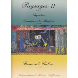 Galais Bernard - Paysages II : Argentine (4 harpes)