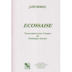 Hummel Johan Nepomuka - Ecossaise (4 harpes)