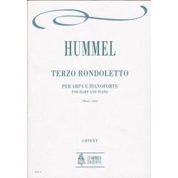 Hummel Johan Nepomuk - Terzo rondoletto per arpa e pianoforte