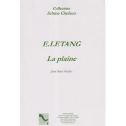 Letang Evelyne - La plaine (2 harpes celtiques)