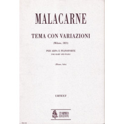 Malacarne Domenico - Tema con variazioni per arpa e pianoforte