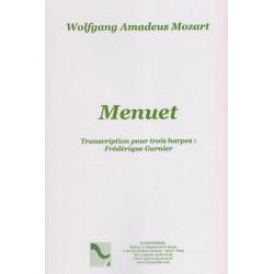Mozart Wolfgang Amadeus - Menuet (3 harpes)