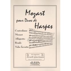 Mozart Wolfgang Amadeus - Mozart pour duos de harpes