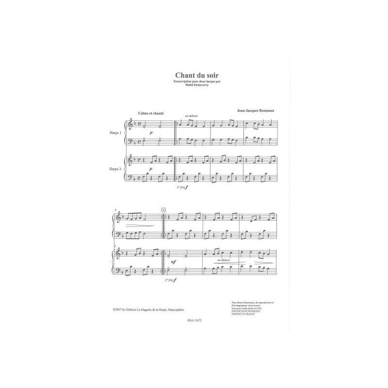 Rousseau Jean-Jacques - Chant du soir (Ma
