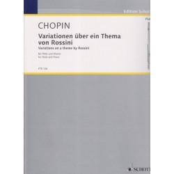 Chopin Frédéric - Variations sur un thème de Rossini (flûte & harpe ou piano)