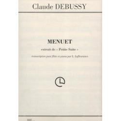 Debussy Claude - Menuet (de petite suite)(flûte & harpe ou piano)