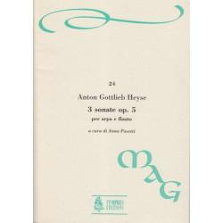 Heyse Anton Gottlieb - 3 sonates op.5 per arpa e flauto