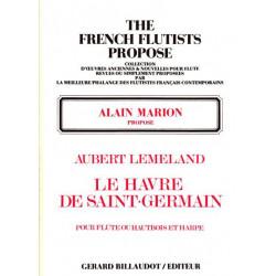 Lemeland Aubert - Le havre de St Germain (flûte ou hautbois & harpe)