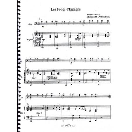 Marais Marin - Les folies d'Espagne (alto & harpe)