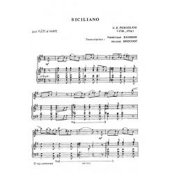 Pergolesi Batista - Siciliano (flûte & harpe)