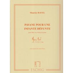 Ravel Maurice - Pavane pour une infante défunte - L. Fleury (flûte ou violon & harpe ou piano)