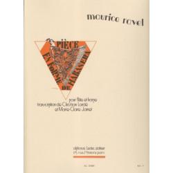 Ravel Maurice - Pièce en forme d'Habanera (flûte & harpe)