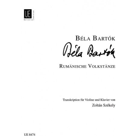 Bartok Bela - Danses populaires Roumaines (Violon & harpe)