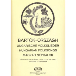Bartok Bela - Hungarian folksongs (Violon & harpe)