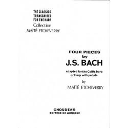 Bach Johann Sebastian - 4 pièces pour harpe celtique ou harpe classique