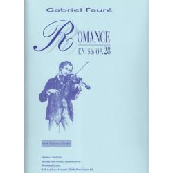 Fauré Gabriel - Romance op.28 (Violon & harpe ou piano)